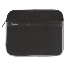 "Laptop Sleeve 13-14"" Neopreen Zwart/Antraciet"