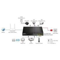 Netwerk Schakelaar 10/100 Mbit 10 Poorten + PoE