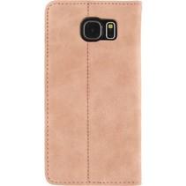 Smartphone Premium Magnet Book Case Samsung Galaxy S6 Roze