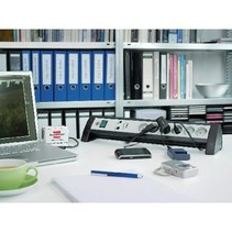 Overspanningsbeveiligde Stekkerdoos Premium-Office-Line 6-Wegs 1.80 m - Geaard