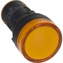 22 mm Panel Indicator Amber 110 VAC