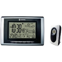 Thermo Hygrometer Weerstation Binnen en Buiten Zwart/Zilver
