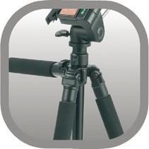 Professioneel Camera/Video Statief Pan & Tilt 165 cm Zwart