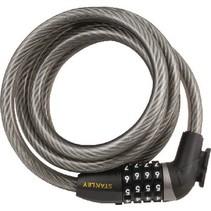 4-Digit Fietscijferslot Zinc Alloy Lock Body with ABS Housing 130 mm