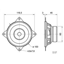 Broadband speaker 4 Ohm 30 W