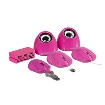Speaker 2.0 USB 3.5 mm 6 W Roze