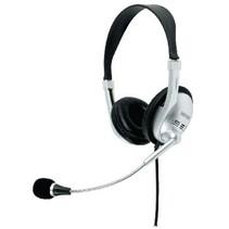 Headset On-Ear 2x 3.5 mm Ingebouwde Microfoon Zwart