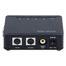 Omvormer VGA - VGA / S-Video / RCA Zwart