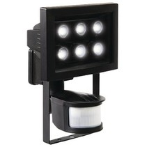 LED Floodlight met Sensor 8.8 W 210 lm Zwart
