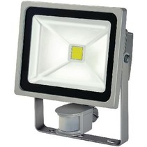 LED Floodlight met Sensor 30 W 2100 lm Grijs