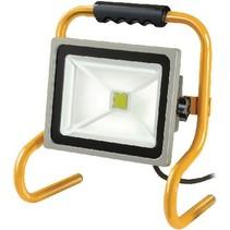 Mobiele LED Floodlight 30 W 2100 lm Geel / Grijs