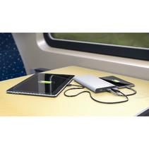 Draagbare Powerbank 10000 mAh USB Zilver