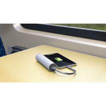 Draagbare Powerbank 3000 mAh USB Zilver