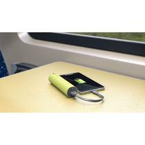Draagbare Powerbank 2600 mAh USB Groen
