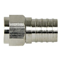 F-Connector 4.8 mm Female / Male Metaal Zilver