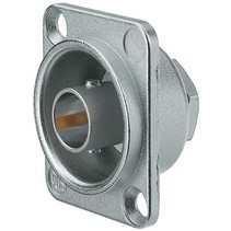 Appliance socket BNC nickel-coloured 75 Ohm