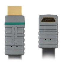 High Speed HDMI kabel met Ethernet HDMI-Connector - HDMI-Connector Haaks 270° 1.00 m Blauw