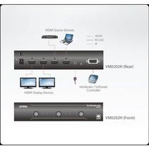 2 x 2-Poorts HDMI Matrix Zwart