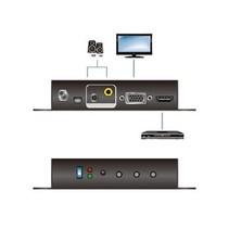 HDMI-Converter VGA Female 15-Pins / 1x 3.5mm / 1x Coax Audio - HDMI-Uitgang