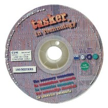 Datakabel op Haspel 8x 0.14 - 100 m Grijs