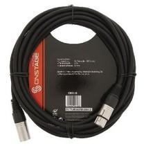 XLR Mono Kabel XLR 3-Pins Male - XLR 3-Pins Female 6.00 m Zwart