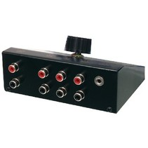 Analoge Audio Schakelaar 3.5 mm Female + 3x (2x RCA Female) - 2x RCA Female Zwart