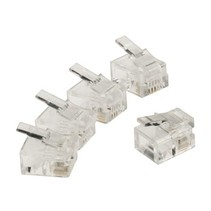 Telecomconnector RJ11 Male PVC Transparant