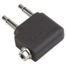 Stereo-Audio-Adapter 90° Haaks 2x 3.5 mm Male - 3.5 mm Female Zwart