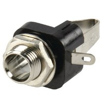 Stereoconnector 6.35 mm Female Metaal Zilver