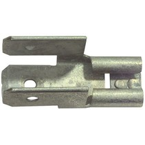 Connector Fast On 6.3 mm Female PVC Zilver