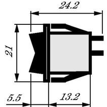 Wipschakelaar 1P 10 A 250 VAC