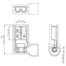 Blade receptacle Rood 4.8 x 0.8 mm N/A PU = 100 ST