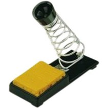 Soldering iron holder with sponge