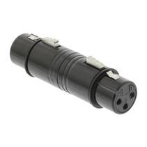 XLR-Adapter XLR 3-Pins Female - XLR 3-Pins Female Zwart