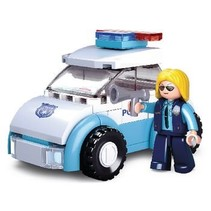 Bouwstenen Girls Dream Serie Police Woman with Police Car