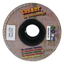 Microfoonkabel op Haspel 0.25 - 100 m Zwart