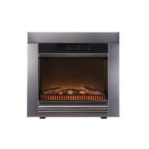 Electric Fireplace Heater Chicago Ingebouwd 1800 W Zwart