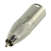 XLR-Adapter XLR 3-Pins Male - RCA Male Zilver