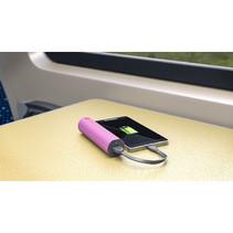 Draagbare Powerbank 2600 mAh USB Roze