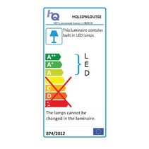 LED Wandlamp voor Buiten 6 W 100 lm Zwart
