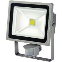 LED Floodlight met Sensor 30 W 2100 lm Grijs
