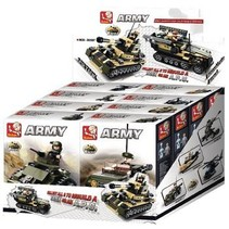 Bouwstenen Army Serie 8-in-1-Display