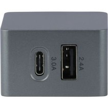 Lader 2 - Uitgangen 2.4 A USB / USB-C Zwart