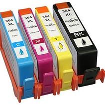 Inktcartridge HP nr.364XL set (4 inktpatronen) (huismerk) Bestel 2 sets en bespaar 10%