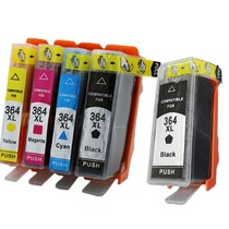Inktcartridge HP nr.364XL set (5 inktpatronen) incl photo zwart (huismerk)
