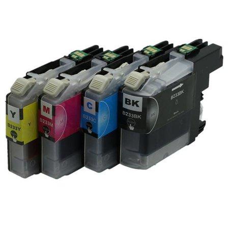 inktpatroonshop Huismerk Brother LC223 BK, C, M en Y Inktcartridge Compatible Multipack Set 4 stuks (1 zwart, 1 magenta, 1 cyaan, 1 geel)