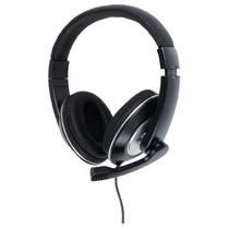 Headset Over-Ear 2x 3.5 mm Ingebouwde Microfoon Zwart