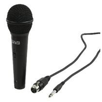 Bedrade Microfoon 6.35 mm -72 dB Zwart