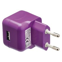 Lader 1 - Uitgang 2.1 A USB Paars