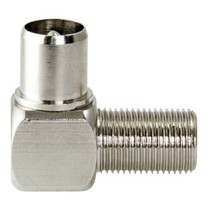 Antenne Adapter F-Connector Female - Coax Male (IEC) Zilver